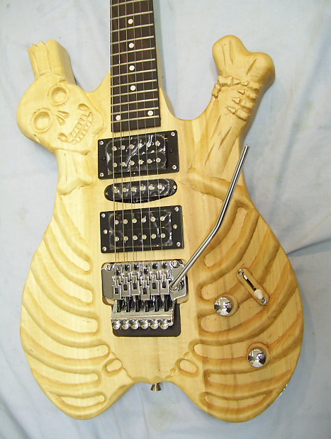 Guitar custom hand carved reverb