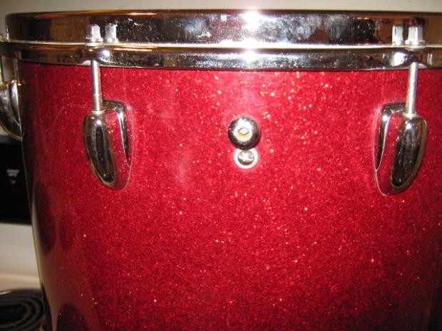 Slingerland 1966 red glass glitter 16x16 floor tom reverb for 16x16 floor tom
