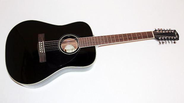 fender cd 160se black 12 string acoustic electric guitar reverb. Black Bedroom Furniture Sets. Home Design Ideas
