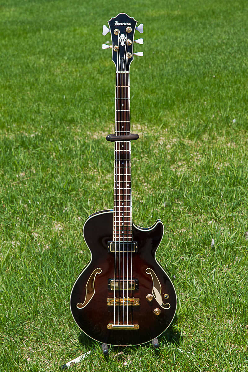 Auto Shop Near Me >> Ibanez AGB205-DVS 2013 hollow body short scale 5 string bass | Reverb