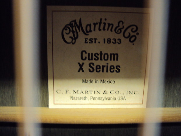 Martin X1 000e Custom X Series Acoustic Electric 2013 W
