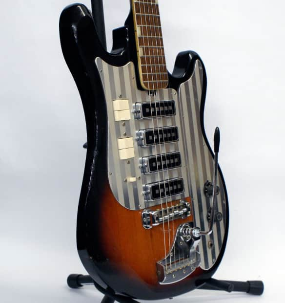 Rare Vintage 1965 4 Pickup Silvertone 1437 Electric Guitar ...
