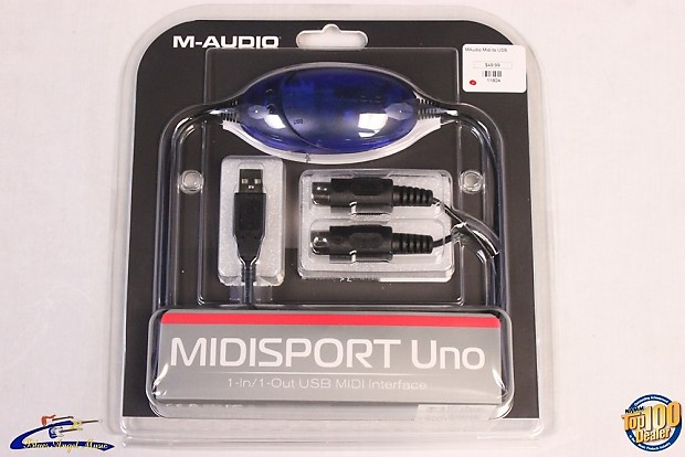m audio midisport uno 1 in 1 out usb midi interface brand reverb. Black Bedroom Furniture Sets. Home Design Ideas