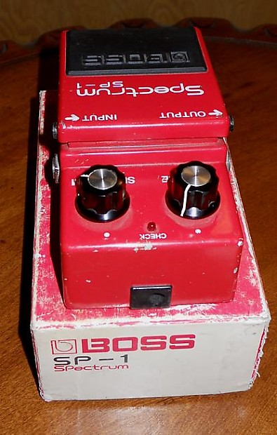 1978 boss spectrum sp 1 pedal with box and instruction reverb. Black Bedroom Furniture Sets. Home Design Ideas