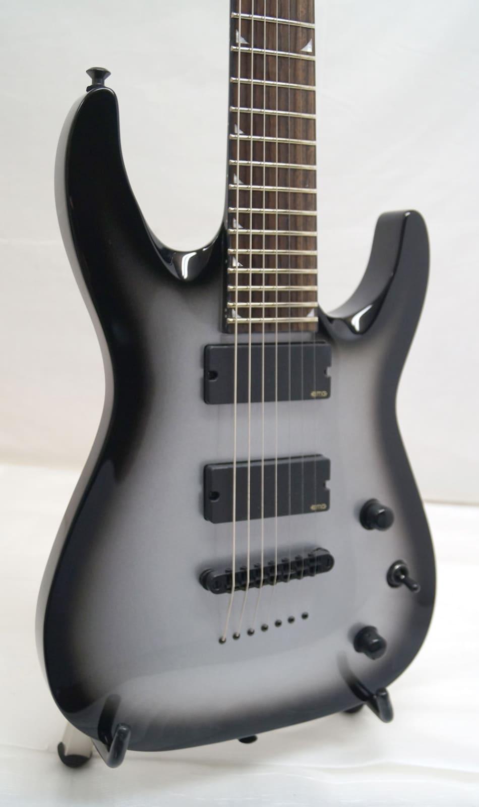 new jackson 7 string silverburst electric guitar reverb. Black Bedroom Furniture Sets. Home Design Ideas