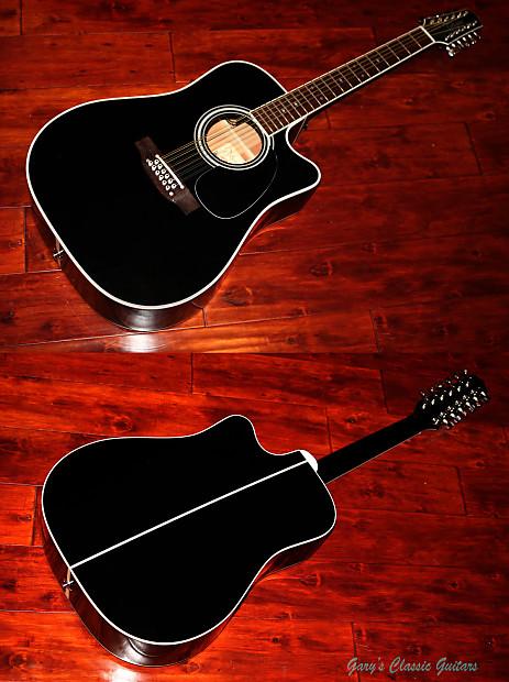 takamine ef381fc black 12 string acoustic electric guitar reverb. Black Bedroom Furniture Sets. Home Design Ideas