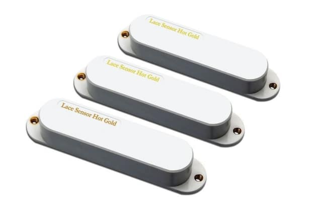 new lace sensor hot gold strat pickup set 3 pickups white reverb. Black Bedroom Furniture Sets. Home Design Ideas