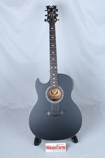dean exhibition left handed acoustic electric guitar w aphex reverb. Black Bedroom Furniture Sets. Home Design Ideas