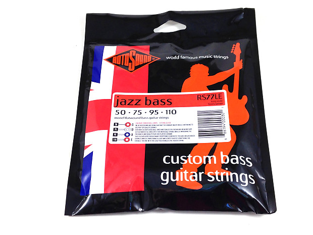 rotosound bass guitar string jazz bass rs77le monel flatwound reverb. Black Bedroom Furniture Sets. Home Design Ideas