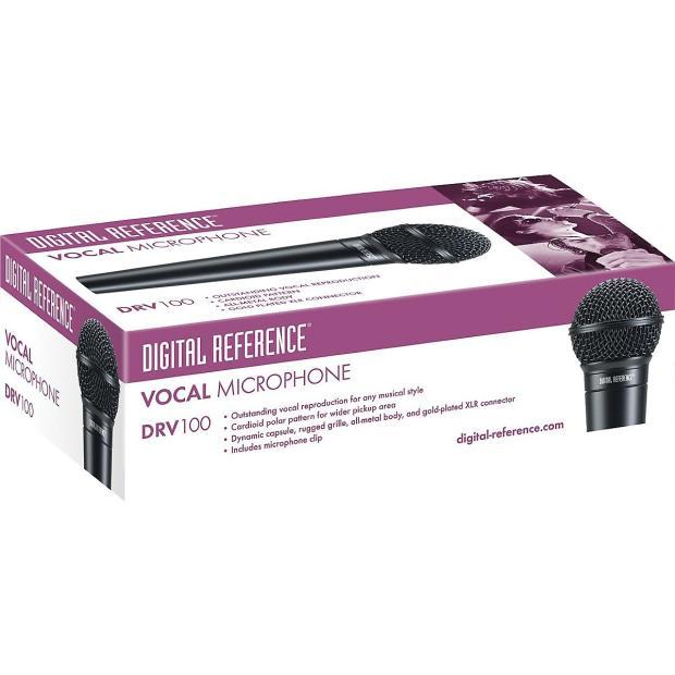 digital reference drv100 dynamic cardioid handheld mic black reverb. Black Bedroom Furniture Sets. Home Design Ideas