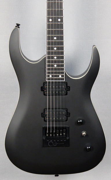 halo custom guitars merus with evertune bridge flat black bare knuckle juggernaut reverb. Black Bedroom Furniture Sets. Home Design Ideas