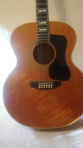 39 76 guild f412 12 string jumbo acoustic guitar blonde freshly reverb. Black Bedroom Furniture Sets. Home Design Ideas