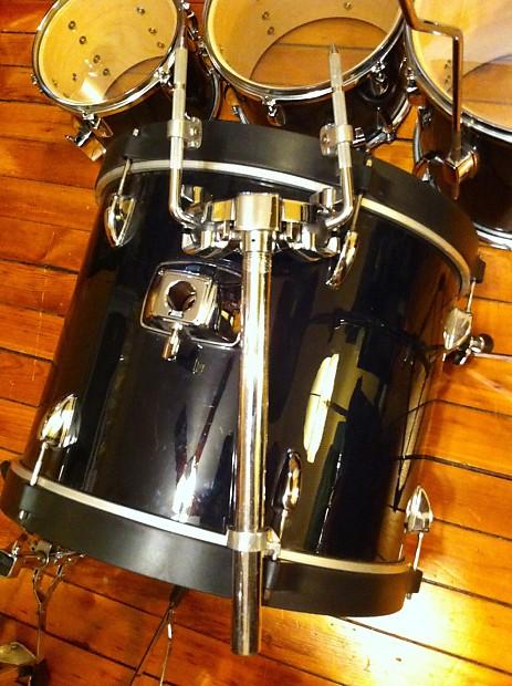 Tama Stagestar 5 Pc Drum Set Black Vinyl Wrap Reverb