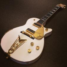 1994 Gretsch Penguin Penguin 1994 White with gold sparkle image