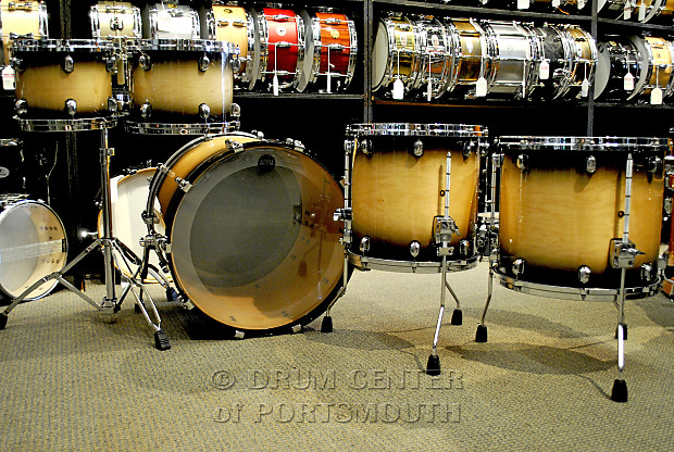 Tama starclassic maple 5 piece shell pack antique natural for 16x14 floor tom