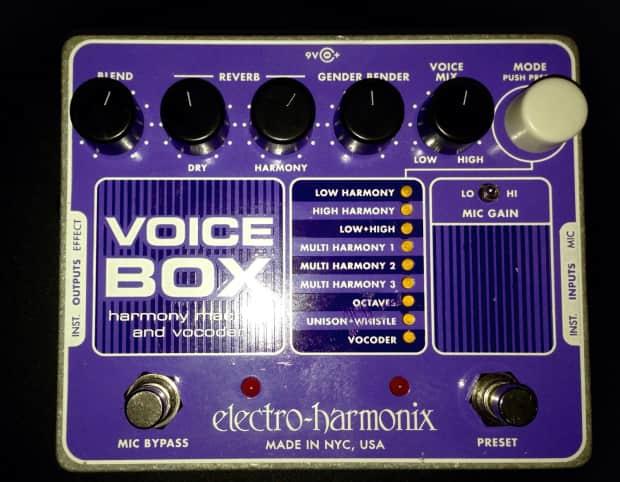 electro harmonix voice box harmony machine vocoder