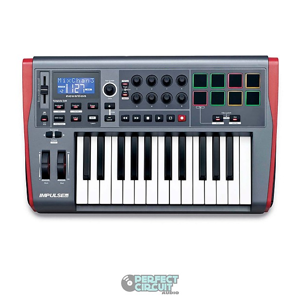 novation impulse 25 usb midi controller new perfect reverb. Black Bedroom Furniture Sets. Home Design Ideas