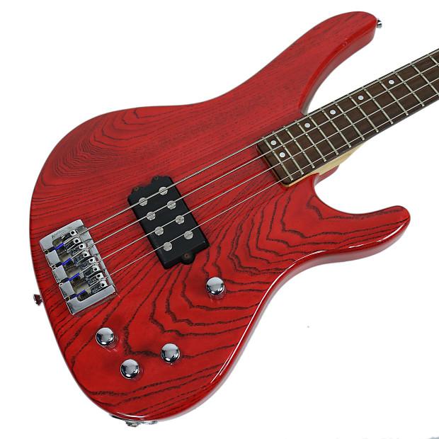 1996 Washburn XB900 Electric Bass Guitar Transparent Red ...