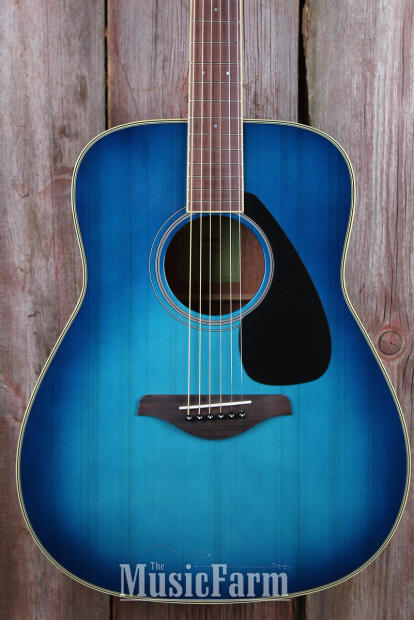 Yamaha fg820 sb dreadnought acoustic guitar solid spruce for Yamaha solid top