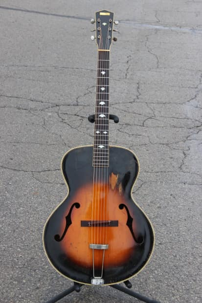 gibson built recording king m 4 prewar archtop with cool reverb. Black Bedroom Furniture Sets. Home Design Ideas