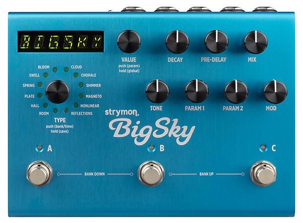 strymon big sky reverb effects pedal reverb. Black Bedroom Furniture Sets. Home Design Ideas