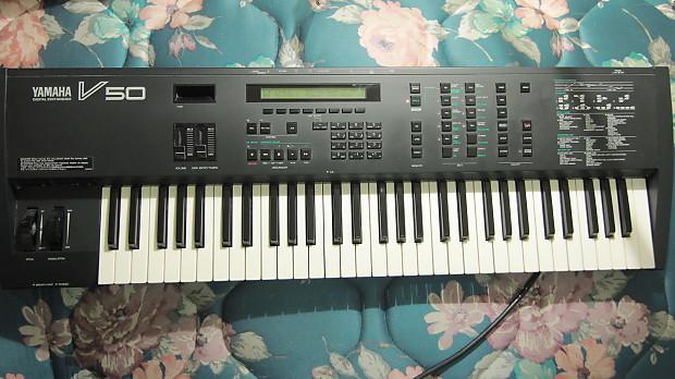 Upgraded Yamaha V50 FM Keyboard Synthesizer RARE! | Reverb
