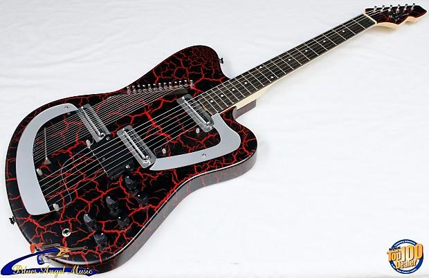 italia modena sitar electric guitar red crackle brand reverb. Black Bedroom Furniture Sets. Home Design Ideas