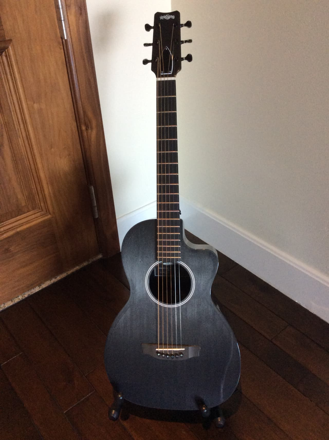 rainsong p12a parlor guitar 2015 locking tuners mint reverb. Black Bedroom Furniture Sets. Home Design Ideas