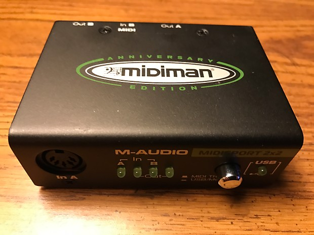clean used m audio midisport 2x2 usb midi interface midiman reverb. Black Bedroom Furniture Sets. Home Design Ideas
