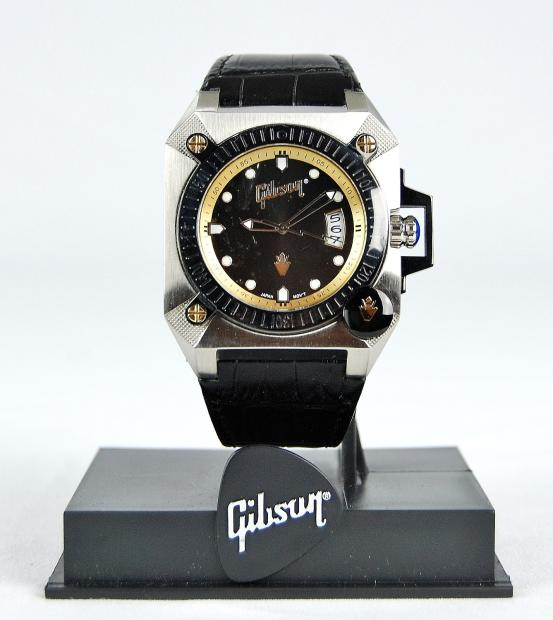 Jewel Auto Sales >> New! Gibson Guitars Men's Wrist Watch Silver and Black | Reverb
