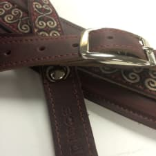 """Souldier """"Papyrus"""" Leather Saddle Guitar Strap *Free Shipping* image"""