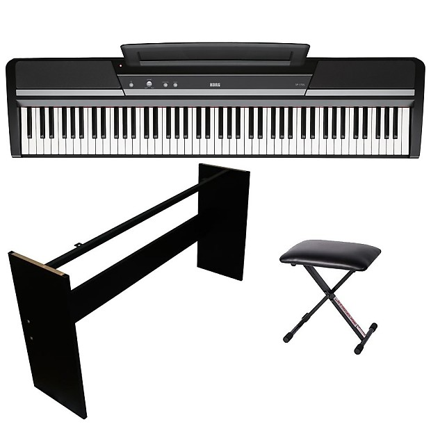 korg sp 170s digital piano portable 88 key kit w wooden stand reverb. Black Bedroom Furniture Sets. Home Design Ideas