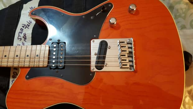yamaha pacifica 311 ms 1990s orange reverb