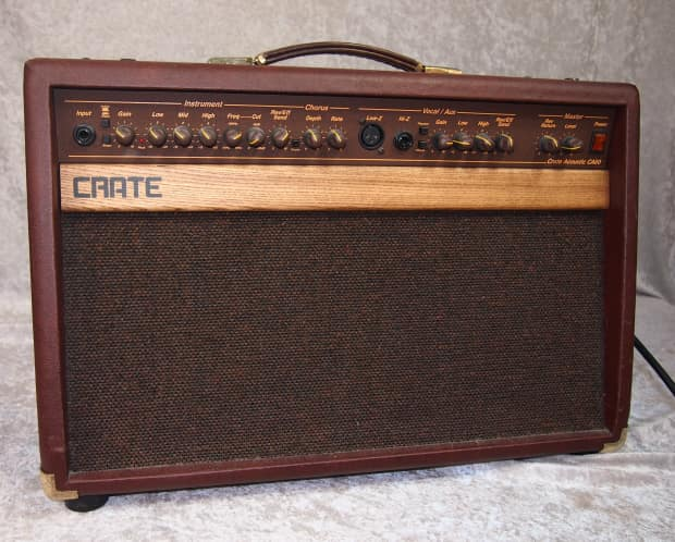 crate acoustic ca60 guitar combo amplifier amp with reverb. Black Bedroom Furniture Sets. Home Design Ideas