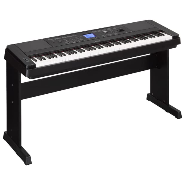 yamaha dgx660 88 key digital piano with stand black reverb