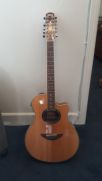 Yamaha 12 string guitar apx 700 12nt 2007 anitique for Apx guitar yamaha