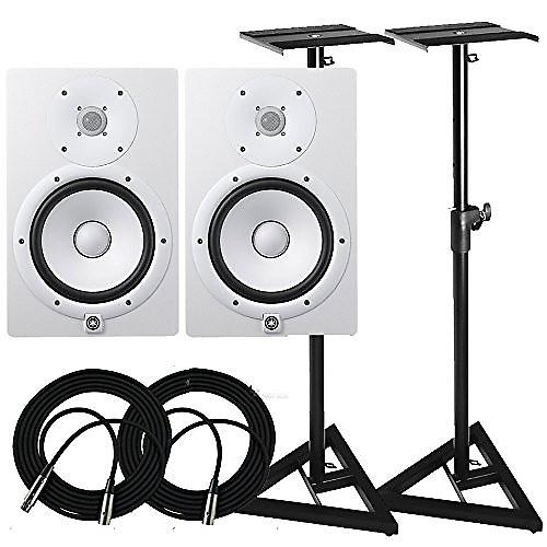 Yamaha hs8 w 8 inch powered studio monitor white free for Yamaha hs8 sub