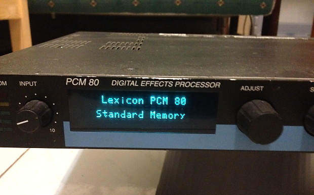 lexicon pcm80 pcm 80 digital effects processor reverb reverb. Black Bedroom Furniture Sets. Home Design Ideas