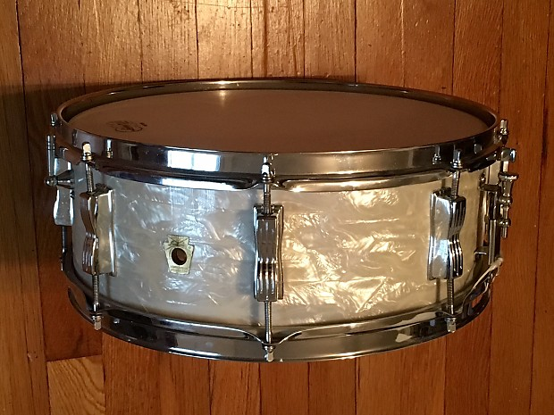 ludwig 5x14 jazz festival 1968 white marine pearl snare drum reverb. Black Bedroom Furniture Sets. Home Design Ideas