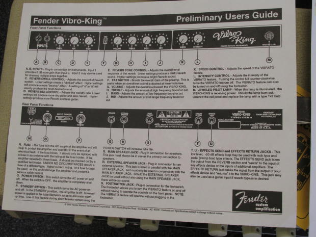 fender vibro king serial number dating