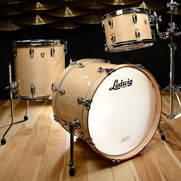 Ludwig classic maple 12 14 20 3pc kit natural finish reverb for Classic house drums