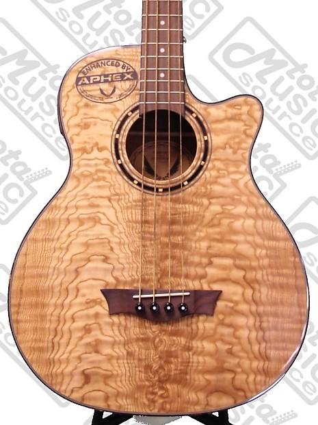 Dean Exotica Quilt Ash Acoustic Electric Bass Dmt Preamp