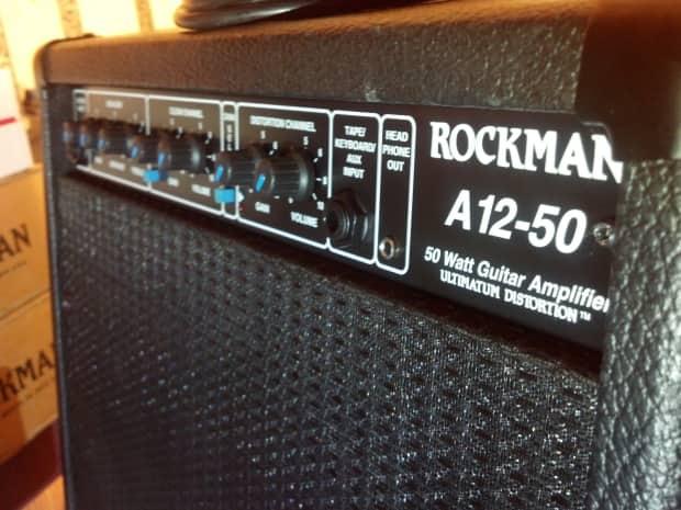 rockman a12 50 guitar amplifier w ultimatum distortion very reverb. Black Bedroom Furniture Sets. Home Design Ideas