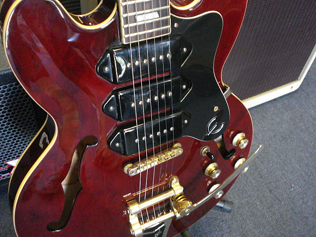 epiphone riviera 335 custom shop p 90 39 s bigsby with reverb. Black Bedroom Furniture Sets. Home Design Ideas