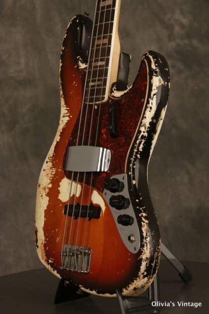 fender jazz bass 4 bolt neck 1970 sunburst reverb. Black Bedroom Furniture Sets. Home Design Ideas