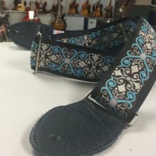 """Souldier """"Constantine"""" Guitar Strap Brown/Blue/White *Free Shipping* image"""