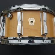 LUDWIG MAPLE SNARE DRUM NATURAL FINISH 6 1/2''X14'' VINTAGE 1980'S-1990'S