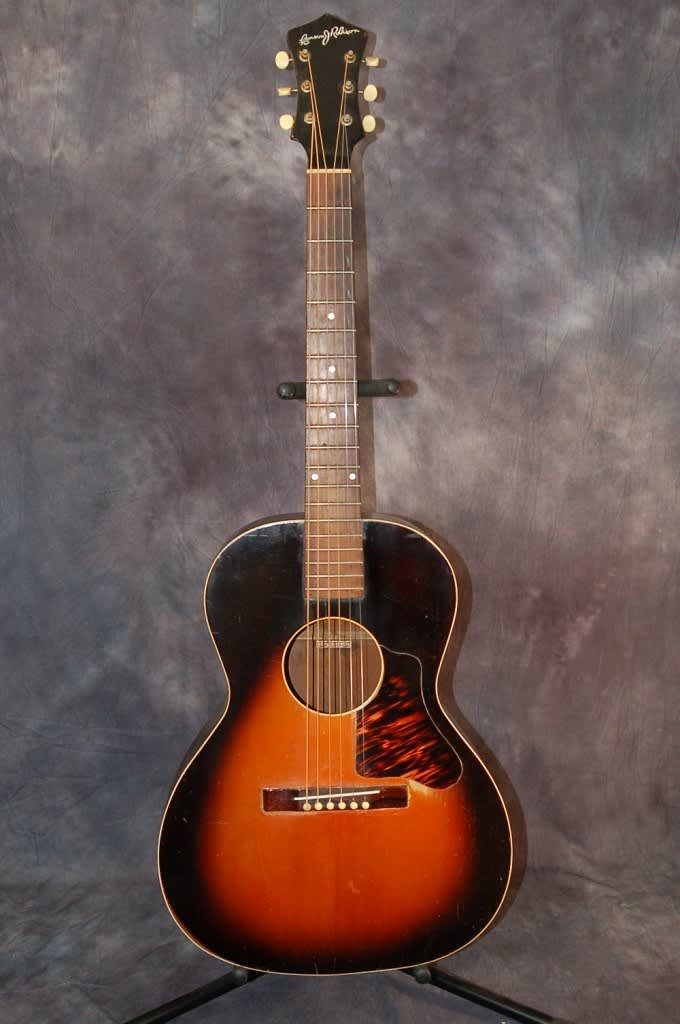 1938 Montgomery Wards Carson J Robison Cowboy Guitar Sunburst Reverb
