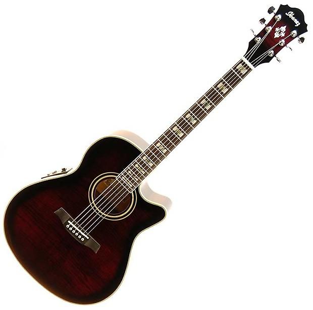 ibanez aef30e acoustic electric guitar transparent violet reverb. Black Bedroom Furniture Sets. Home Design Ideas