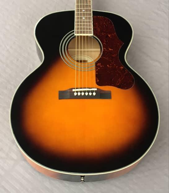 epiphone ej 200 artist na jumbo acoustic guitar in sunburst reverb. Black Bedroom Furniture Sets. Home Design Ideas